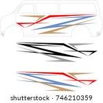 vehicle graphics  stripe  ... | Shutterstock .eps vector #746210359