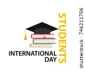 international students day... | Shutterstock .eps vector #746211706