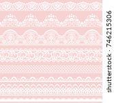 Horizontally Seamless Pink Lac...