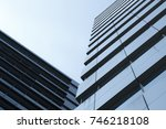 sky and tower in blue tone | Shutterstock . vector #746218108