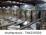 stell barrels in winemaker... | Shutterstock . vector #746219203