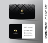 modern business card template... | Shutterstock .eps vector #746224429