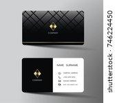 modern business card template...   Shutterstock .eps vector #746224450