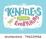 world kindness day card. hand... | Shutterstock .eps vector #746224966
