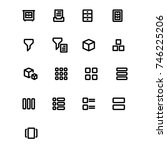 content icons | Shutterstock .eps vector #746225206