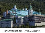 panoramic view of russian st.... | Shutterstock . vector #746228044