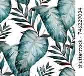 watercolor seamless pattern... | Shutterstock . vector #746229034