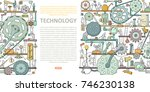 machinery template with space... | Shutterstock .eps vector #746230138