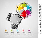 five options success design... | Shutterstock .eps vector #746230783