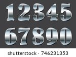 set of metal numbers.vector... | Shutterstock .eps vector #746231353