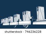 saint petetersburg dam vector.    Shutterstock .eps vector #746236228