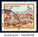 austria   circa 1984  a stamp... | Shutterstock . vector #746236948