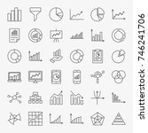 graph chart line icons. vector... | Shutterstock .eps vector #746241706