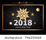 vector happy new year... | Shutterstock .eps vector #746254444