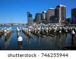 victoria harbour  docklands ... | Shutterstock . vector #746255944