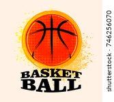 vector grunge basketball   t... | Shutterstock .eps vector #746256070