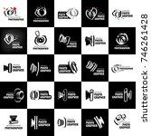 vector logo for photographer | Shutterstock .eps vector #746261428