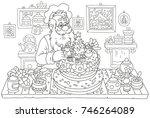 Santa Claus Cooking A Fancy...