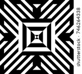 abstract tile with black white... | Shutterstock .eps vector #746264338