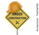 3d rendering under construction ... | Shutterstock . vector #746266948