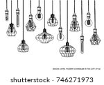 hand drawn vector set of... | Shutterstock .eps vector #746271973