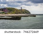 baltic seashore seen from a... | Shutterstock . vector #746272669