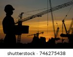 architect and engineer concept  ... | Shutterstock . vector #746275438