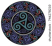 round celtic design. celtic... | Shutterstock .eps vector #746278210