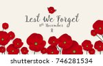 remembrance day concept  a... | Shutterstock .eps vector #746281534