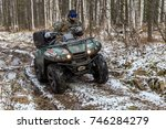 walk on a cross country vehicle ... | Shutterstock . vector #746284279
