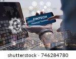 fintech investment financial... | Shutterstock . vector #746284780