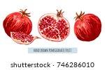 beautiful hand drawn botanical... | Shutterstock .eps vector #746286010