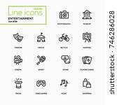 entertainment   line design... | Shutterstock .eps vector #746286028