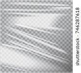 transparent glossy polyethylene ... | Shutterstock .eps vector #746287618