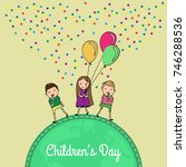 international children day.... | Shutterstock .eps vector #746288536