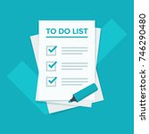 to do list icon concept.... | Shutterstock .eps vector #746290480