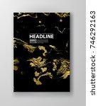 vector black and gold design...   Shutterstock .eps vector #746292163