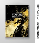 vector black and gold design... | Shutterstock .eps vector #746292238