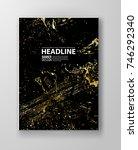 vector black and gold design...   Shutterstock .eps vector #746292340