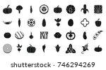 vegetables icon set. simple set ... | Shutterstock .eps vector #746294269