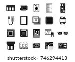 chip icon set. simple set of... | Shutterstock .eps vector #746294413