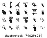 cursor icon set. simple set of... | Shutterstock .eps vector #746296264