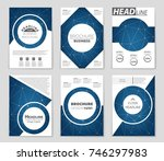 abstract vector layout... | Shutterstock .eps vector #746297983