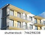 modern  luxury apartment... | Shutterstock . vector #746298238
