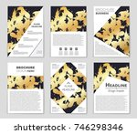abstract vector layout... | Shutterstock .eps vector #746298346
