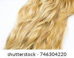 blond hair isolated on white | Shutterstock . vector #746304220