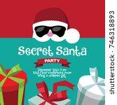 cartoon secret santa christmas... | Shutterstock .eps vector #746318893
