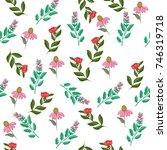 floral seamless pattern | Shutterstock .eps vector #746319718