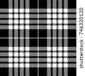 black and white scottish woven... | Shutterstock .eps vector #746320120