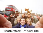 a group of best friends have a... | Shutterstock . vector #746321188